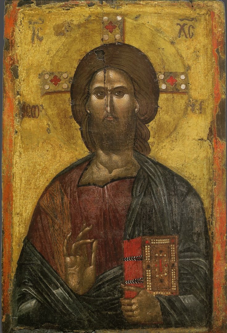 Христос Пантократор; XIV в.; Греция. Афон - православные мастерские «Русская Икона»