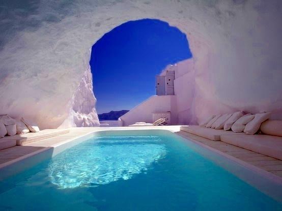 Natural Pool, Santorini, Greece: Greece Gorgeous, Santorini Greece, Buckets Lists, Favorite Places, Places I D, Natural Pools Santorini, Amazing Places, Outdoor Spaces, Travel Buckets