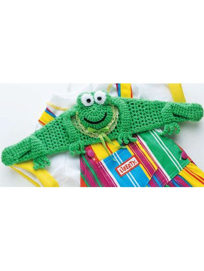 "Free pattern for ""Frog Hanger""!"