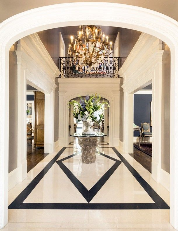 Not So Basic Black Patterns Entryway And Marble Floor