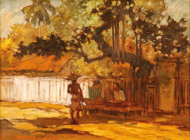 Gerard Pieter Adolfs (Semarang, 1899 – The Netherlands, 1968) - Indonesian Village View