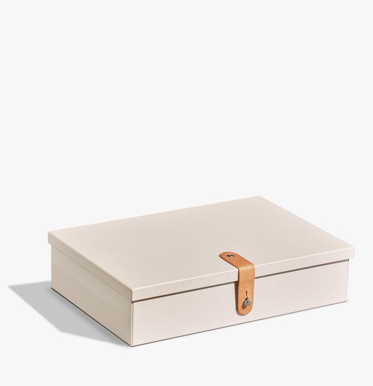 Cream Metal Stash Box / Shinola