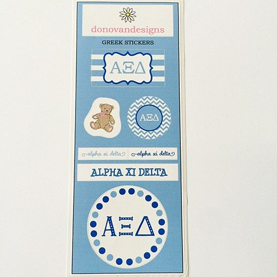 alpha xi delta axid sorority sticker sheets 650 great greek gift