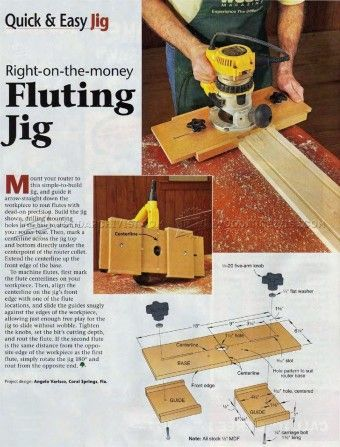 #785 DIY Fluting Jig - Other Woodworking Tips and Techniques