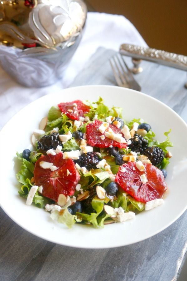 Blood Orange, Berry, and Feta Cheese Salad –