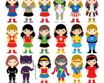 36 chicos superhéroes trajes Imágenes Prediseñadas imágenes