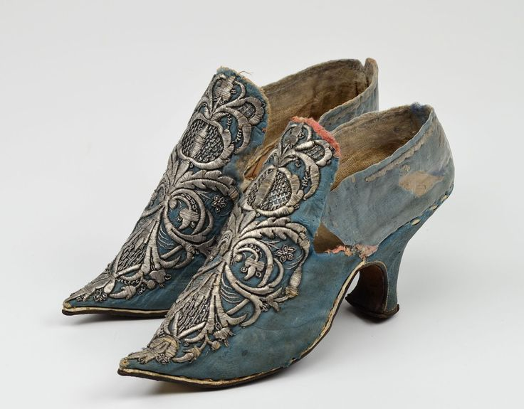 Silver Shoes With Pointed Toes Circa