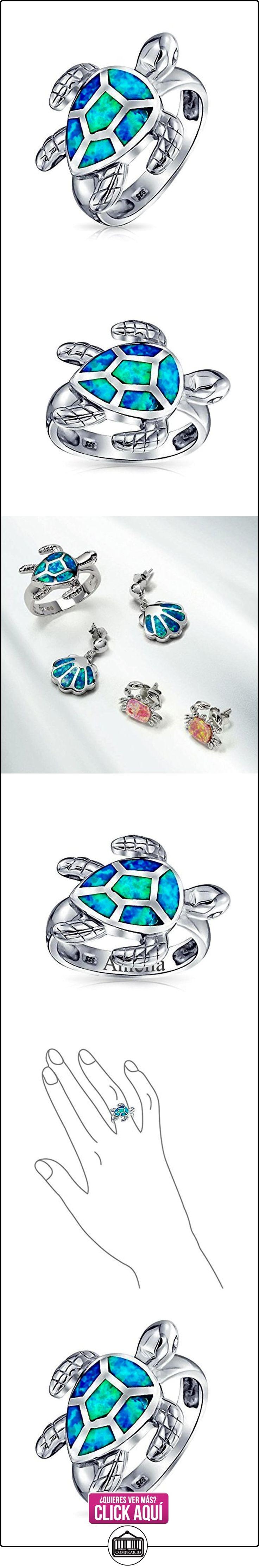 Bling Jewelry Plata Esterlina milla náutica Etampado Azul Ópalo Anillo Tortuga Marina  ✿ Joyas para mujer - Las mejores ofertas ✿ ▬► Ver oferta: https://comprar.io/goto/B00ISYOX44