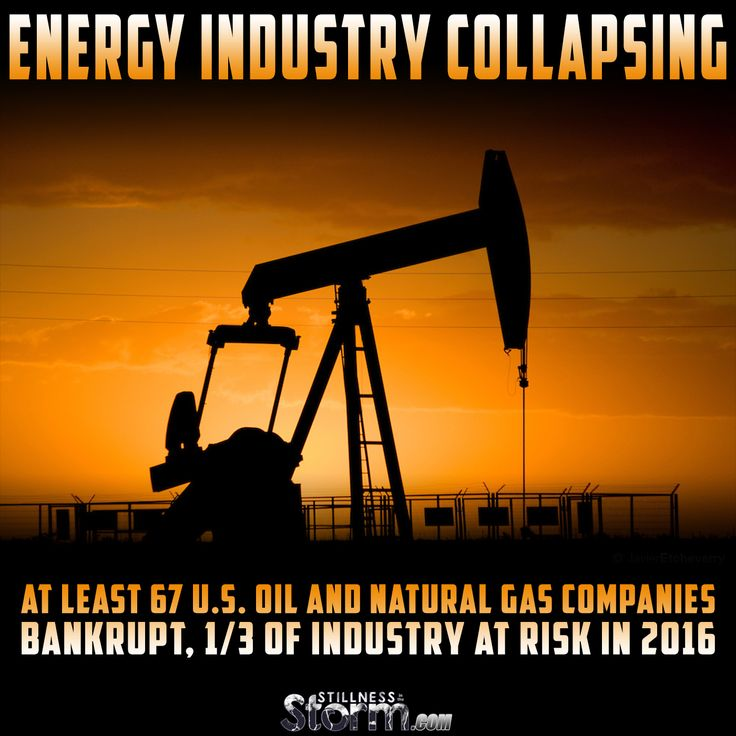Energy Industry Collapsing | At least 67 U.S. Oil and Natural Gas Companies Bankrupt, 1/3 of Industry At Risk in 2016