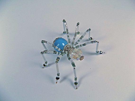 Cielo azul abalorios araña araña de abalorios adornos con