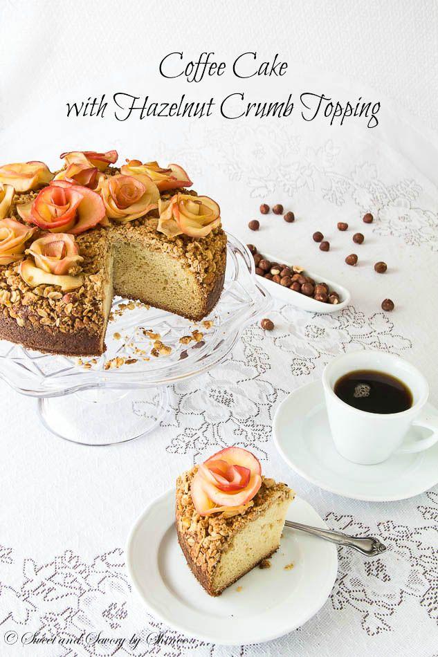 Hazelnut Crumb Coffee Cake ~Sweet and Savory by Shinee