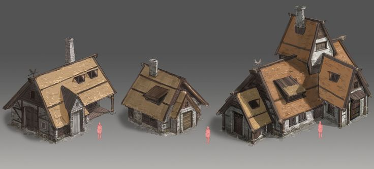 ArtStation - Medieval Farm Buildings 2012, Jong-min Ahn