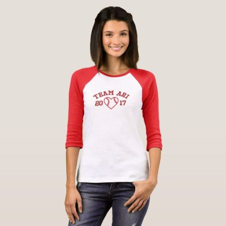 Team Ari women's baseball shirt - tap to personalize and get yours