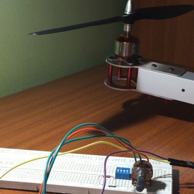 Custom homemade quadcopter test arduino diy