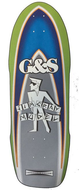 """G&S Skateboards Old School Jim Gray Autographed Reissue Deck 9.75"""""""" X 32.25"""""""""""