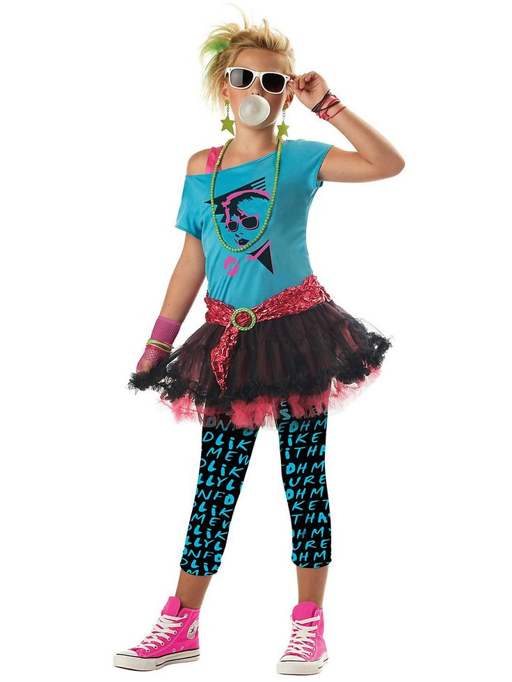 Tween 80's ValleyGirl Costume | Cheap Tween Costumes for Girls