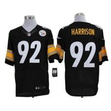 Nike James Harrison Jersey Elite Team Color Black Pittsburgh Steelers #92