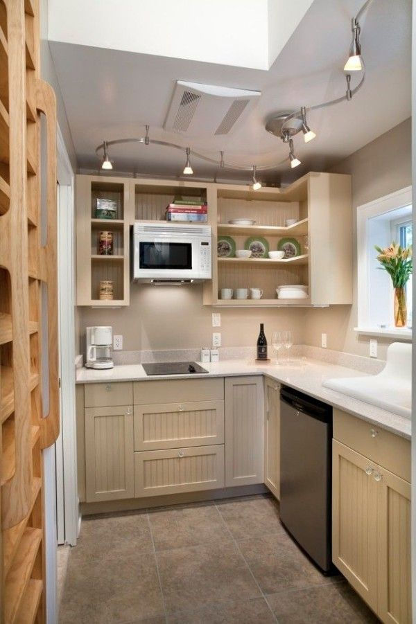 This is a nice tiny kitchen.