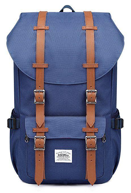 38714841fc47c Rucksack Damen Herren Studenten Backpack KAUKKO 17 Zoll Laptop Rucksack für  15