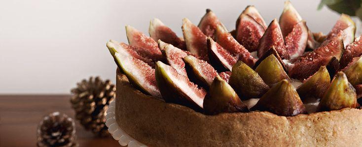 Torta Guirlanda de Figo e Creme de Nozes