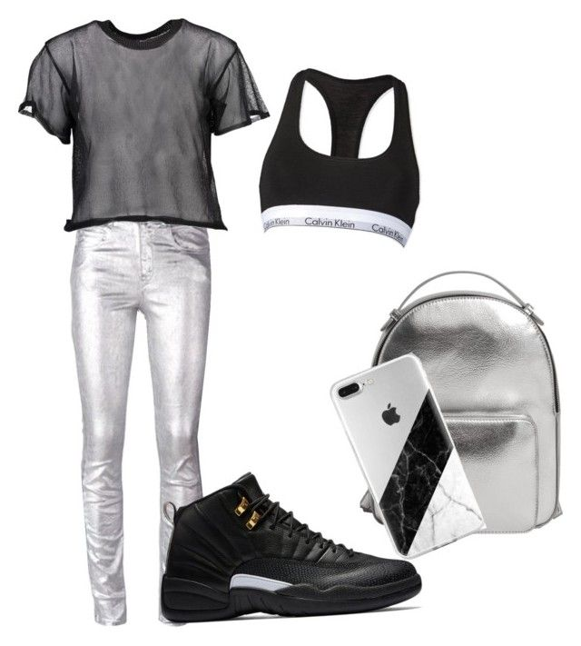 """""""space grey ♡"""" by delia-alexia on Polyvore featuring Étoile Isabel Marant, MM6 Maison Margiela, Calvin Klein and MANGO"""
