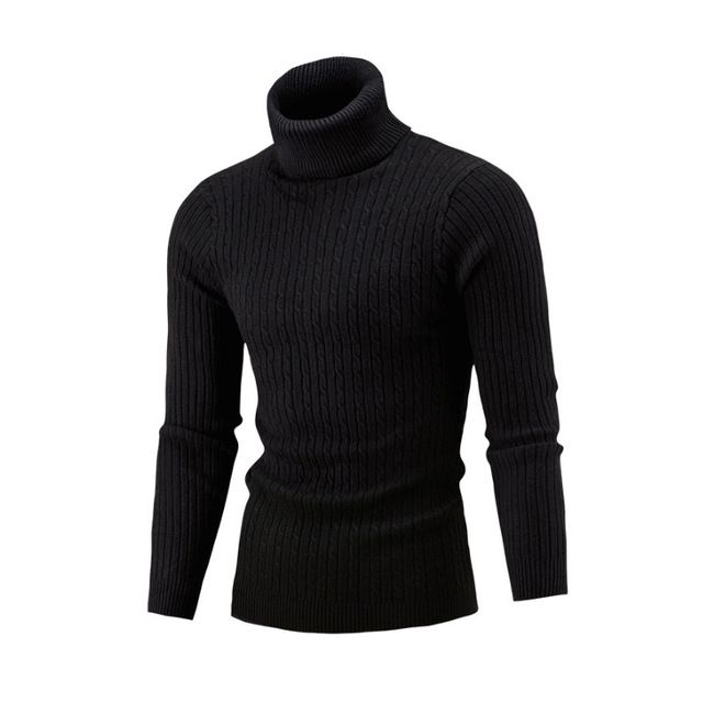 Mega Deal $12.78, Buy NEW 2017 Winter Mens Fashion Sweaters and Pullovers Men Brand Sweater Male Outerwear Jumper Knitted Turtleneck Sweaters M-XXL