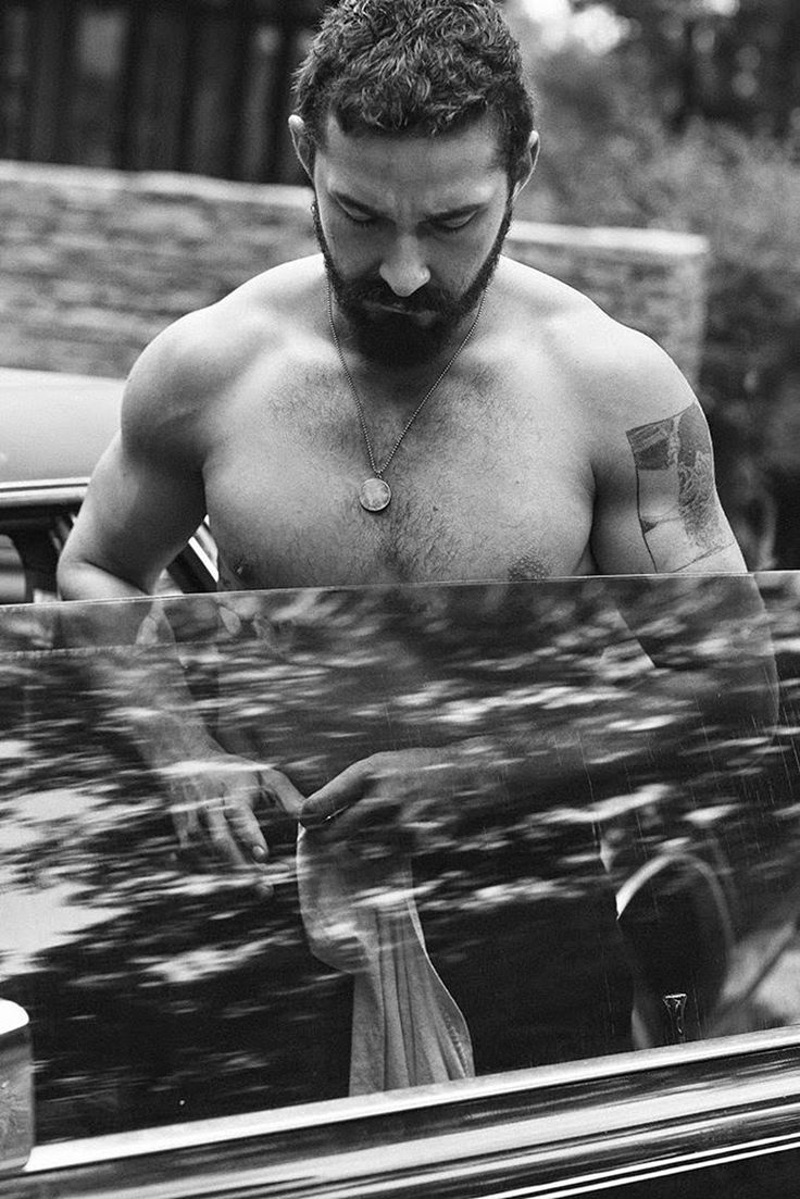 American actor Shia LaBeouf captured by the lens of Craig McDean and styled by Karl Templer, for the November 2014 coverstory of Interview magazine.