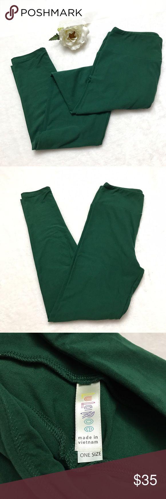 LULAROE Solid Forest Green Leggings LULAROE Solid Forest Green Leggings - worn once! Like new! LuLaRoe Pants Leggings