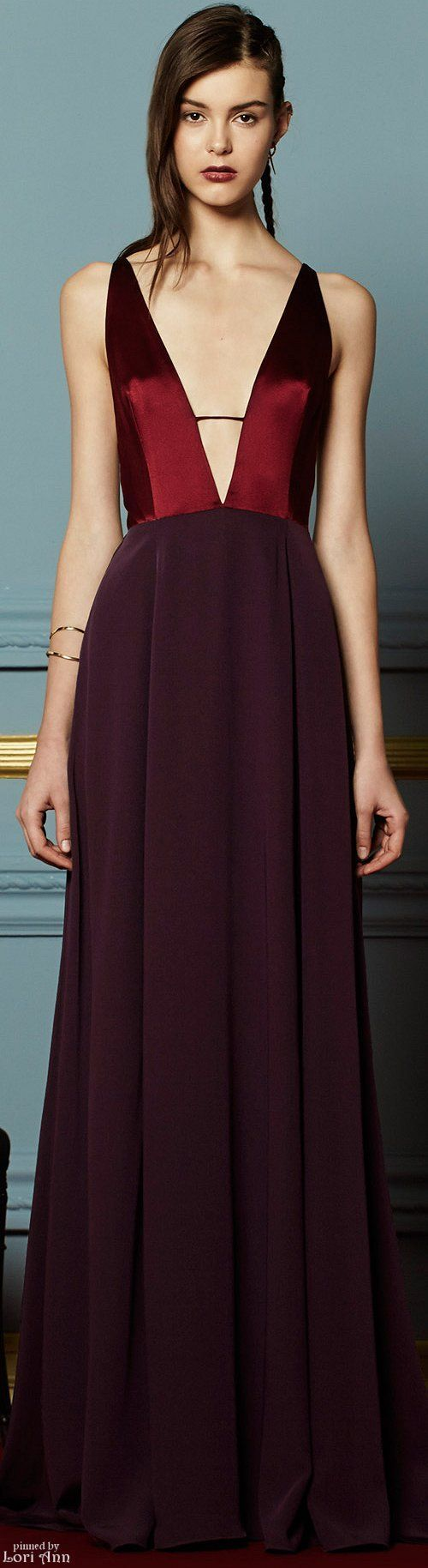 burgundy dress @roressclothes closet ideas women fashion outfit clothing style
