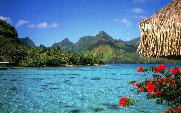 Вид на побережье, Багамские Острова