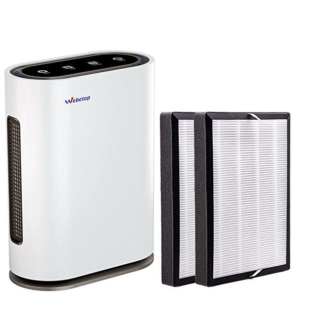 Webetop Air Purifier With 5 In 1 True Hepa Filters Uv C Lighter Ionizer Air Quality Indicator Remote Control Home Air Filt Air Purifier Mold Allergy Purifier