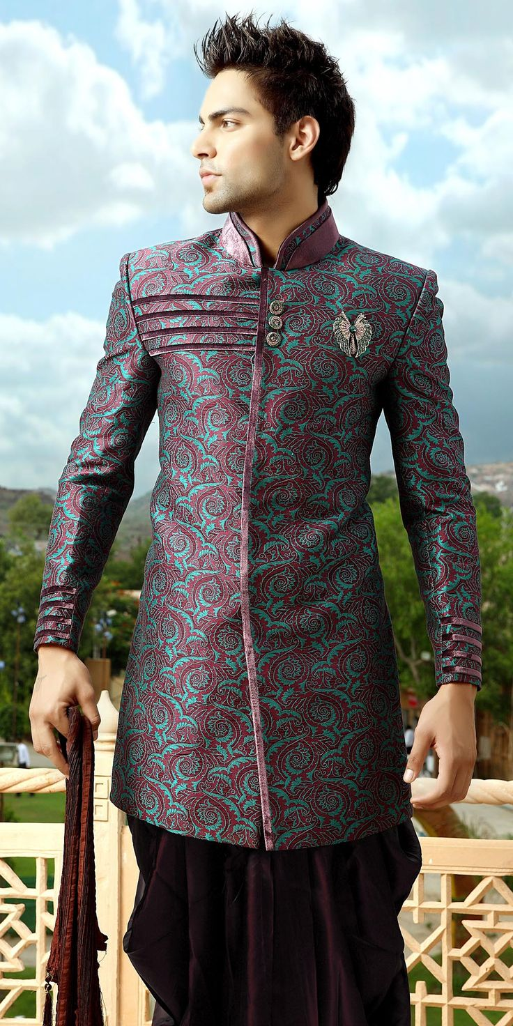 Mens Wear :: Designer Sherwanis :: Bollywood Indo Western Sherwani - Inspiration Couture | Ready made and Custom made bollywood outfits