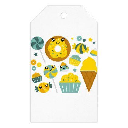 #LITTLE CUTE MANGA YELLOW GIFT TAGS - #elegant #gifts #stylish #giftideas #custom