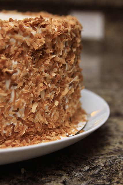 Towering Coconut Layer Cake A Tyler Florence Recipe