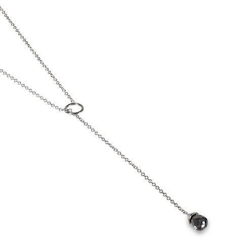 Black Diamond Lariat Necklace | Catherine Angiel – Catherine Angiel