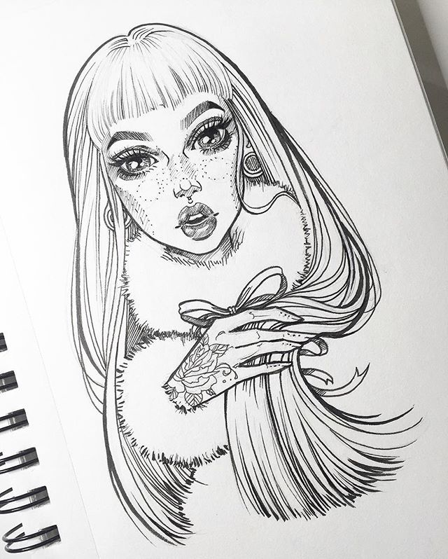 Making prints of this babe this weekend which I'll be adding to my shop Stay tuned for more updates on prints I'll be making of my other recent work. Thanks again for all the love!! ❤️✨ #graphicartery #art #artist #artwork #sketch #drawing #illustration #tattoo #freckles #fauxfur #longhair #art_spotlight #art_empire #artcollective #ink #tattoos #artistsoninstagram #artoftheday #myart