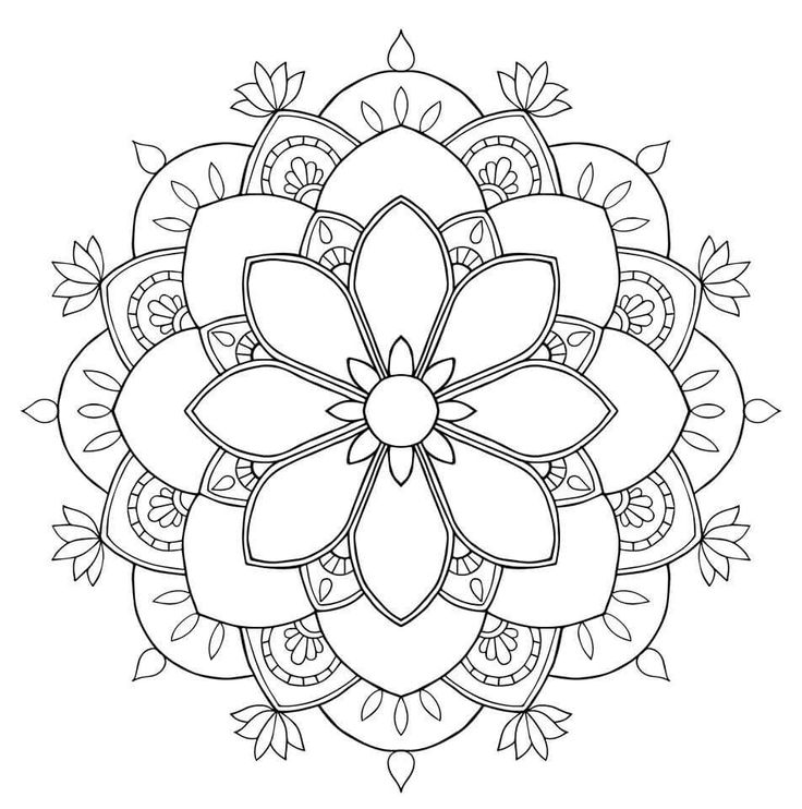 Flower Mandala ColoringColouring PagesColoring