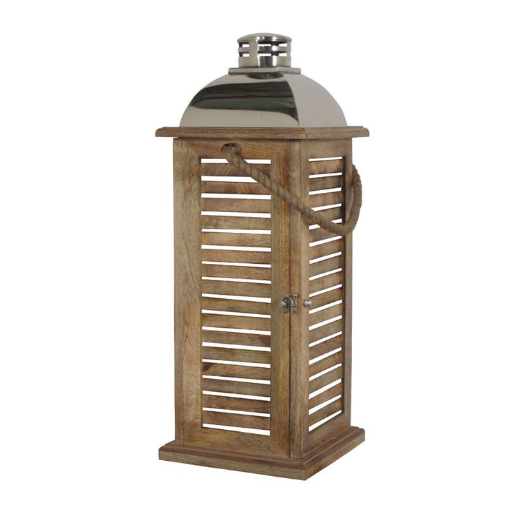 What a beautiful gift for Mother's Day! Mango Wood Lantern - Large - Hauser Stores #mothersdaygift #lantern
