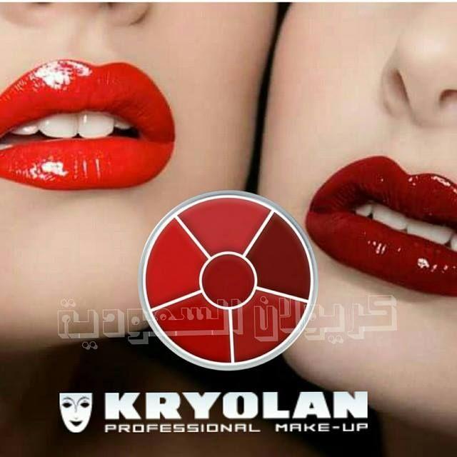 4 αποχρώσεις φλογερού κόκκινου + κόκκινο lip glos στο κέντρο! Υπέροχα χείλη με τη ρόδα κραγιόν της Κryolan Lip Rouge Wheel συνδυασμός F.  https://gr.kryolan.com/proionta/heili
