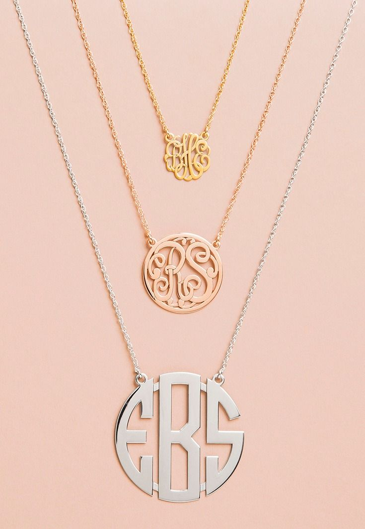 wear your initials around your neck.