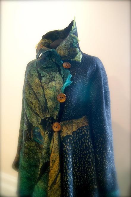 Sugarplum Originals by J. Gauger 'Peacock seamless Butterfly Jacket'