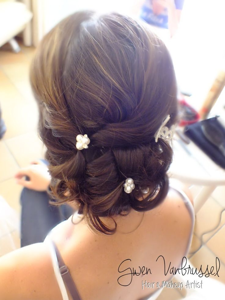 129 best coiffures maquillages mariage images on - Chignon boucle mariage ...