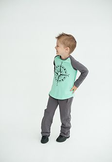 Peekaboo Beans - Boys Mountaineer Tee | Give your Beans a sense of direction with the mint baseball style Mountaineer Tee! | www.peekaboobeans.com