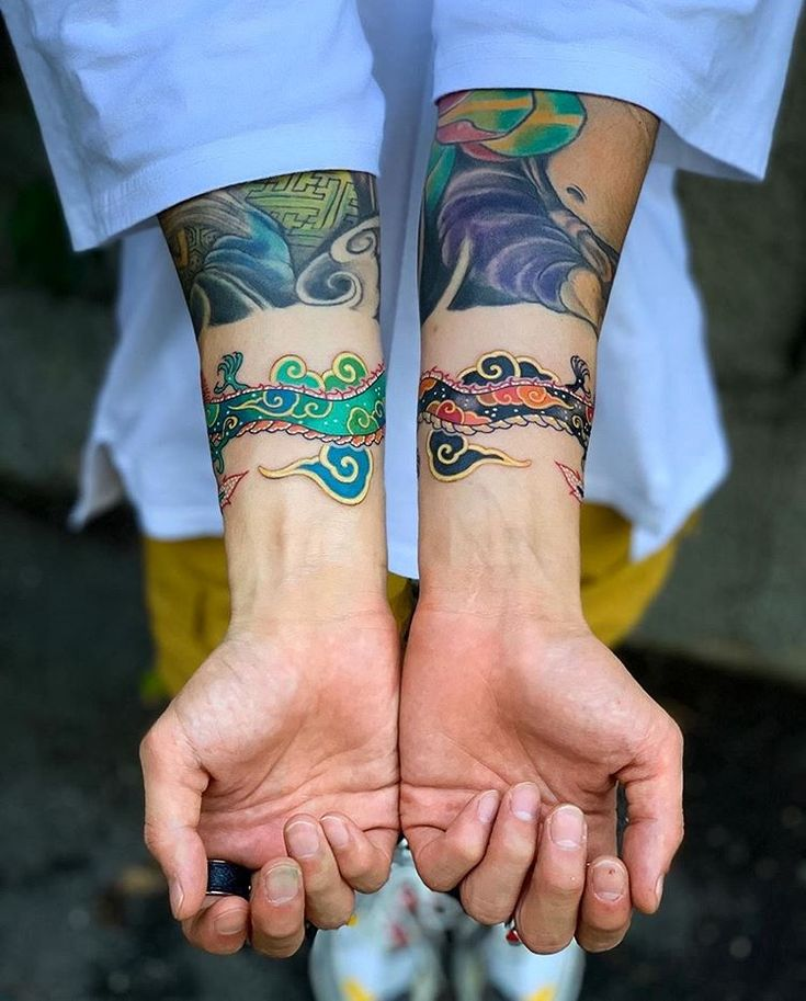 Perfectly placed wrist tattoos by pitta_kkm so
