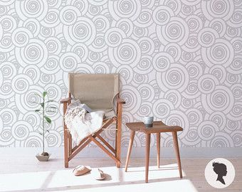 Chevron Wallpaper / Traditional or Removable Wallpaper by Livettes