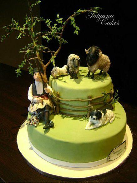shepherd cake - by tatyana_cakes @ CakesDecor.com - cake decorating website