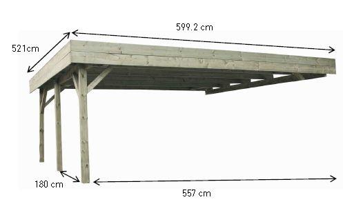 Carport EVOLUTION 2 à adosser en bois | Patio en bois, Carport bois, Plan carport