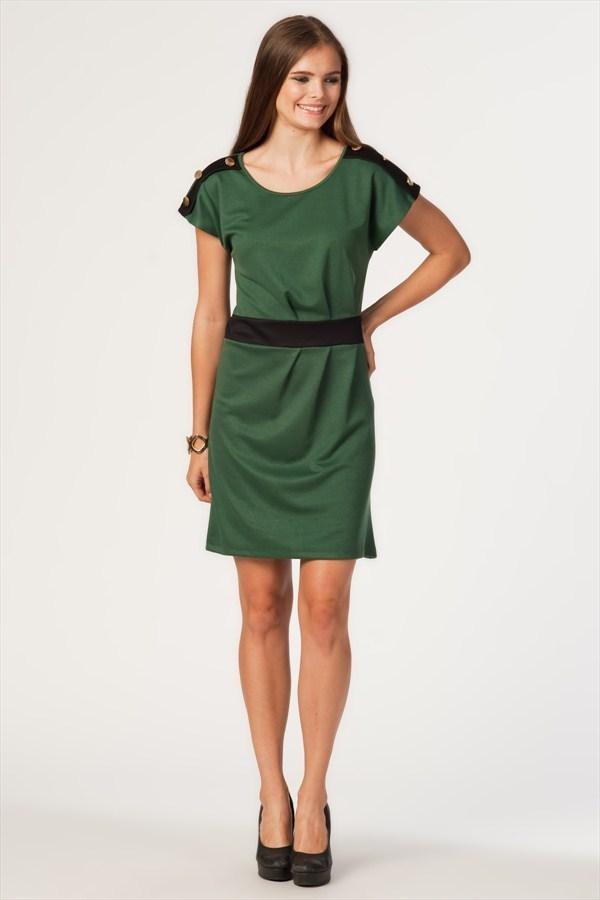 3315 Apolet Düğmeli Pilili Elbise #elbise #dress http://www.primedays.com.tr/pinfo.asp?pid=876