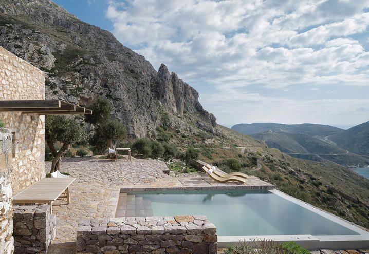 The boutique-hotel Tainaron Blue Retreat in Greece