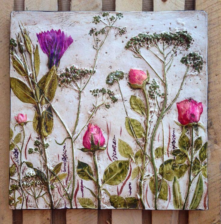 """Купить """"Нежность"""" настенное панно. - настенное панно, цветочная композиция, цветы, розы, травы"""